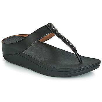 鞋子 女士 人字拖 FitFlop FINO TREASURE 黑色