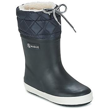 鞋子 儿童 雪地靴 Aigle GIBOULEE 海蓝色 / 白色