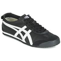 鞋子 球鞋基本款 Onitsuka Tiger 鬼冢虎 MEXICO 66 LEATHER 黑色 / 白色