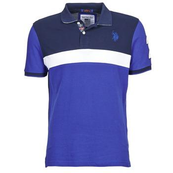 衣服 男士 短袖保罗衫 U.S Polo Assn. 美国马球协会 REMY 海蓝色 / 白色
