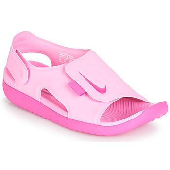 鞋子 女孩 涼鞋 Nike 耐克 SUNRAY ADJUST 5 玫瑰色