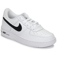 鞋子 兒童 球鞋基本款 Nike 耐克 AIR FORCE 1-3 PS 白色 / 黑色