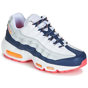 鞋子 女士 球鞋基本款 Nike 耐克 AIR MAX 95 W 白色 / 蓝色 / 橙色